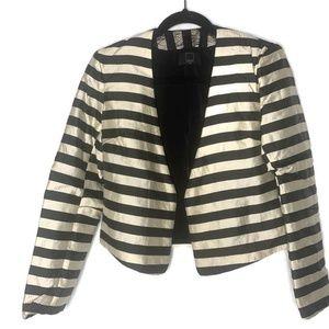 Dolce Vita Gold & Black striped open front blazer